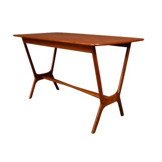 Vintage Danish Mid Century Modern Teak Side Table For Sale