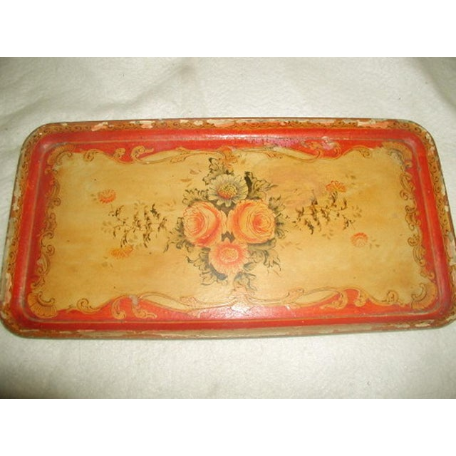 1900's Hand Painted Vibrant Papier Mache Tray - Image 2 of 5