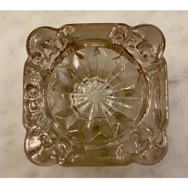 1877 Victorian Cast Iron and Pressed Glass Double Inkwell For Sale - Image 11 of 13