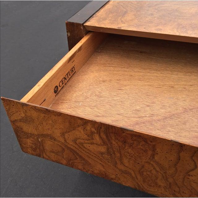 Burl Wood & Mahogany 2 Drawer Side Table - Image 5 of 10