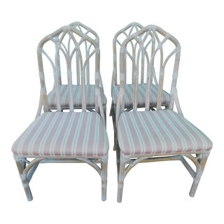 Lexington Rattan Cathedral Chairs - Set of 4
