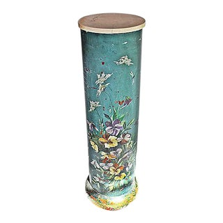 Unique Painted Pedestal Plantstand