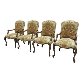 French Country Hooker Furniture Gerard Arm Chairs - Set of 4 For Sale