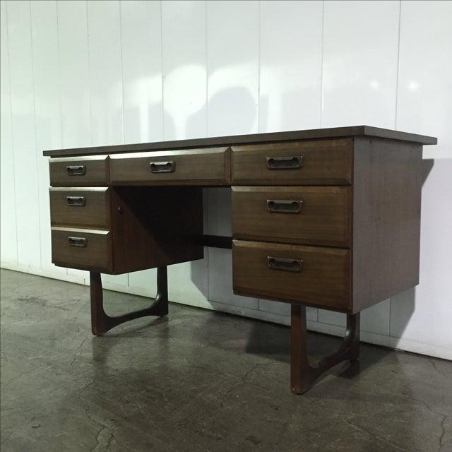 Mid-Century Danish Style Executive Desk - Image 3 of 5