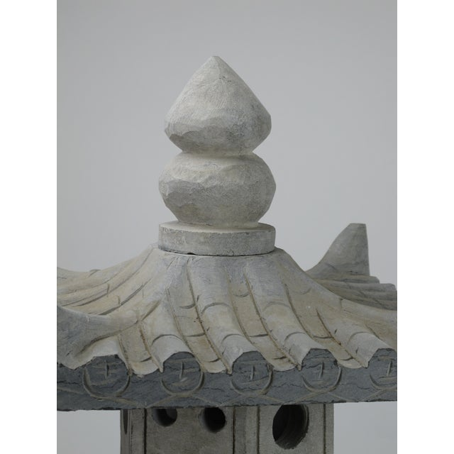 Asian Asian Stone Garden Lantern For Sale - Image 3 of 7