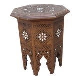 Image of Moroccan Middle Eastern Style Inlaid Side Table For Sale