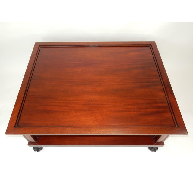 Ralph Lauren Traditional Two Tier Mahogany Coffee Table by Ralph Lauren 50 Inches For Sale - Image 4 of 13