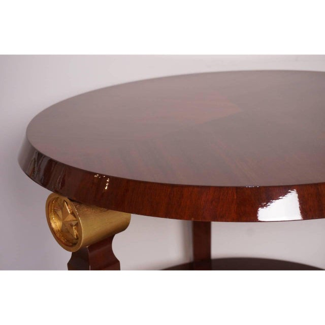 Art Deco Mid-Century Maison Jansen Style Center Table Tiered Mahogany For Sale - Image 3 of 12