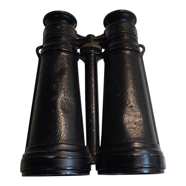 1920s Vintage Metal and Glass Binoculars For Sale