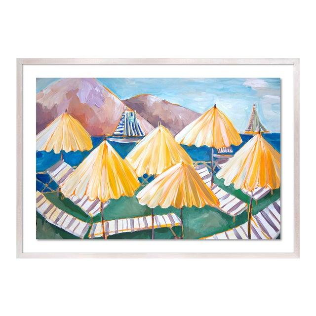 Cabana 1 by Lulu DK in White Wash Framed Paper, Medium Art Print For Sale