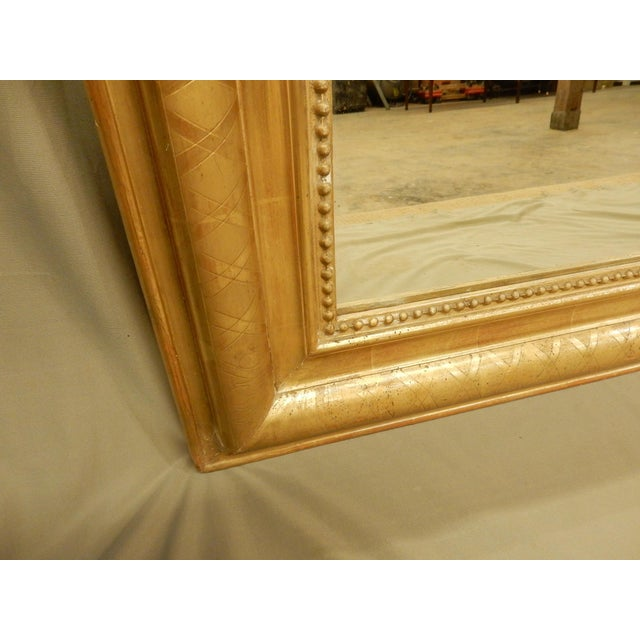 Early 19th Century 19th Century Rectangular Louis Philippe Gilt Mirror For Sale - Image 5 of 8