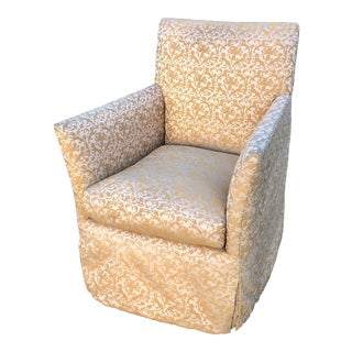 Fortuny Modern Designer Fully Upholstered Art Chair For Sale