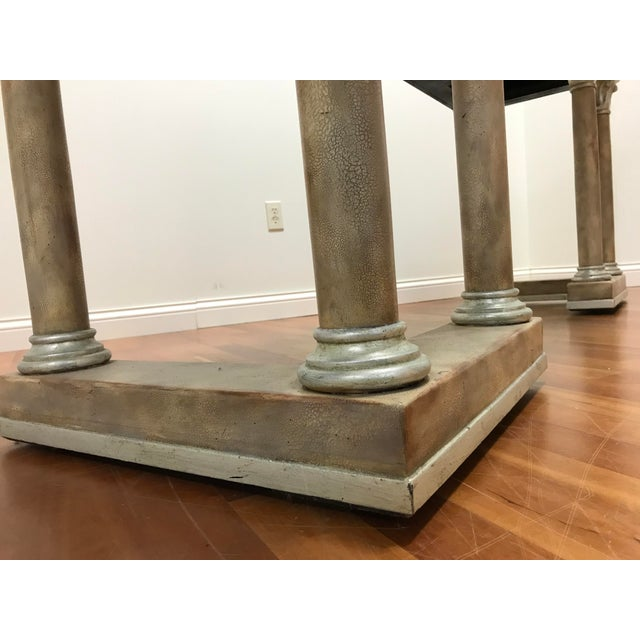 Maitland - Smith 1970s Maitland-Smith Console Sofa Table Tessellated Neoclassical Fossil Stone and Marble For Sale - Image 4 of 10