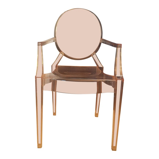 4 /Philippe Starck for Kartell Louis Ghost Plastic Arm Chair For Sale
