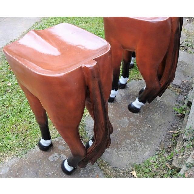 Horse-Shaped Bar Stools - Set of 3 - Image 6 of 6