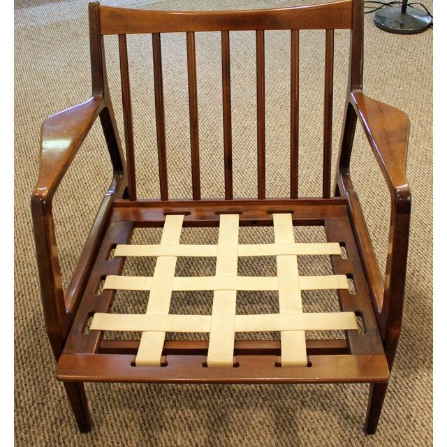 Mid-Century Danish Modern 'Citron' Walnut Open Arm Lounge Chair - Image 6 of 11