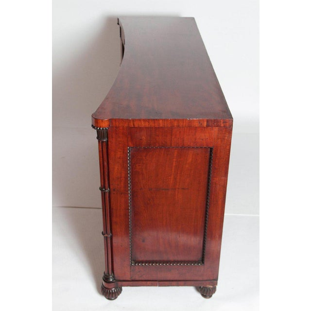 Early 19th Century Early 19th Century Regency Bookmatched Crotch Mahogany Cabinet For Sale - Image 5 of 13