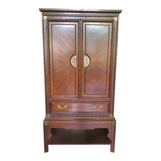 Greek Key Armoire by Bassett For Sale