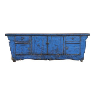 Deep Blue Shanxi Credenza For Sale