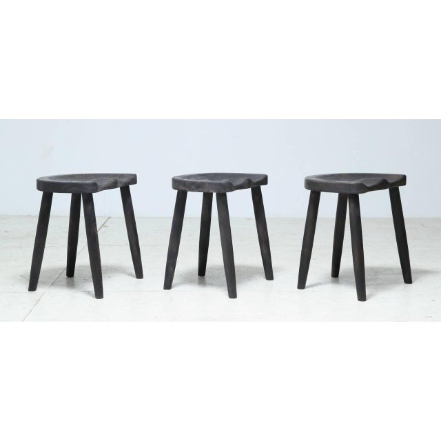 Studio Stools in Blackened Wood by Robert Roakes, USA, 1970s - Image 2 of 6