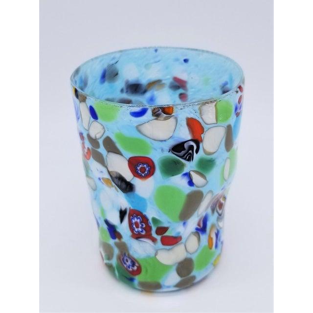Red Murano Glass Custom Set of 10 Glasses Goti For Sale - Image 8 of 11