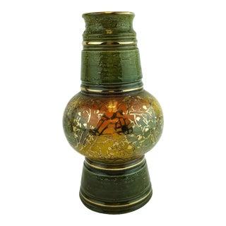 Aldo Londi Bitossi Rosenthal Netter Gold Gilt Vase For Sale