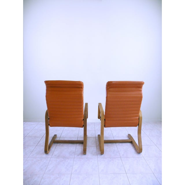 Thonet Mid-Century Modern Thonet Bentwood Cantilever Lounge Chairs - a Pair For Sale - Image 4 of 10