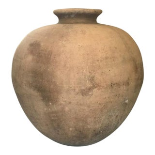 Round Vintage Terracotta Vessel from Mexico For Sale