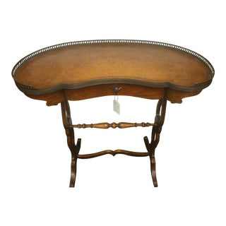 1930's Kidney-Shaped Leather Top Writing Desk For Sale