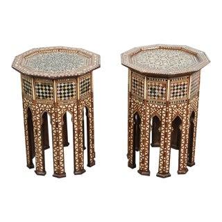20th Century Moorish Octagonal Tables - a Pair For Sale