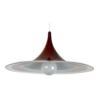 1970s Single Bulb Lucite Pendant Light For Sale