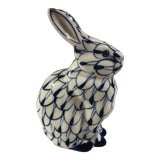 Image of Andrea by Sadek Blue and White Bunny For Sale