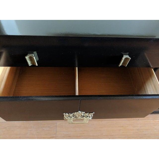 Albert Furniture 1940s Vintage Albert of Shelbyville High Gloss Black Dresser/Credenza For Sale - Image 4 of 7