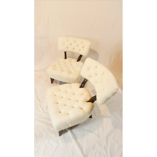 Billy Haines Style Tufted Lounge Chairs - A Pair - Image 7 of 7