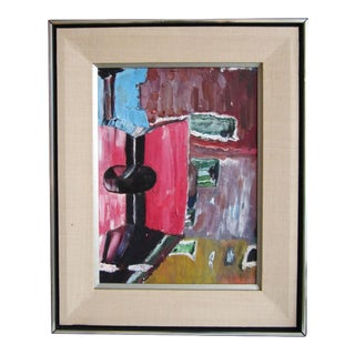 Modernist Mid Century Modern Painting on Canvas For Sale