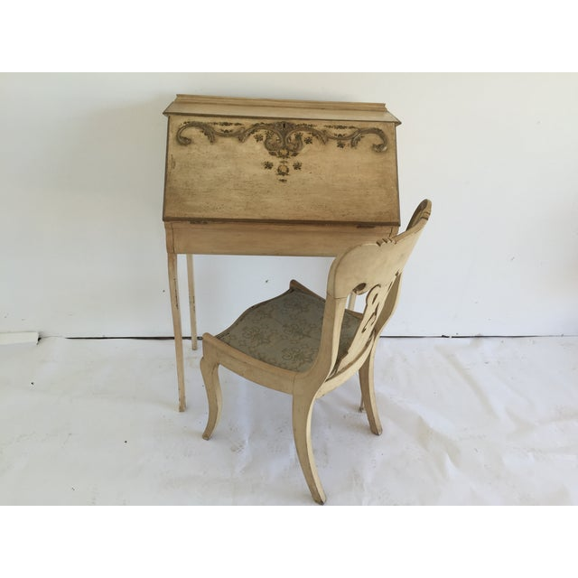 Petite French Desk and Chair - Image 2 of 5