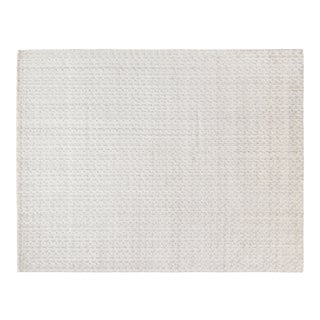 Exquisite Rugs Rothwell Hand Loom Bamboo Silk & Cotton Ivory - 10'x14' For Sale