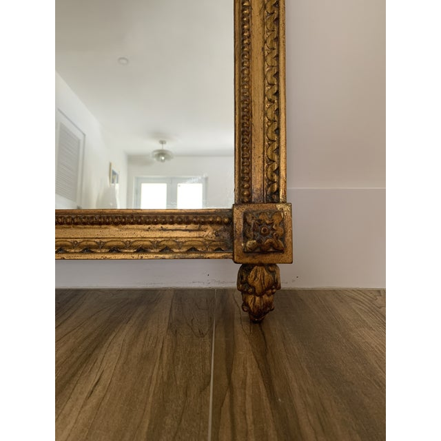 Gold Mid 20th Century Italian Rococo Style Mirror For Sale - Image 8 of 11