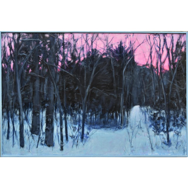 """""""Snowy Intersection at Dawn"""" Contemporary Acrylic Painting by Stephen Remick, Framed For Sale - Image 11 of 12"""