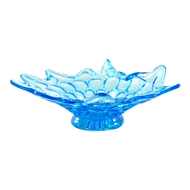 Mid-Century Aqua Stretch Bowl - Image 1 of 5