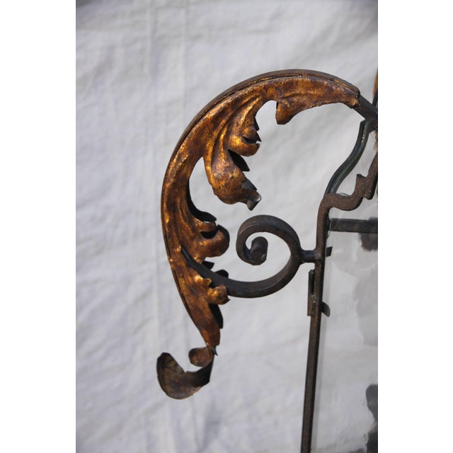 Hand Wrought Spanish Style Iron Lantern For Sale In Los Angeles - Image 6 of 6