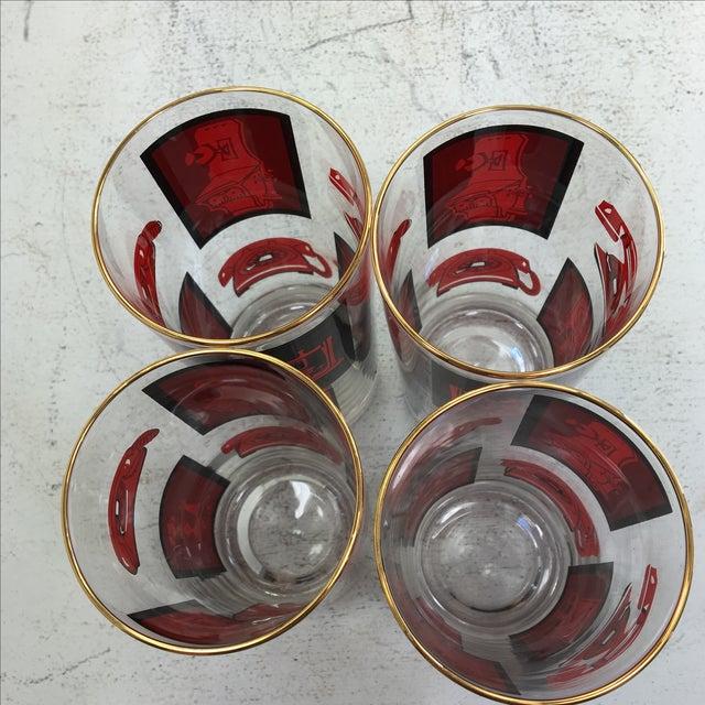 Black, Red & Gold Highball Glasses - Set of 4 - Image 7 of 7