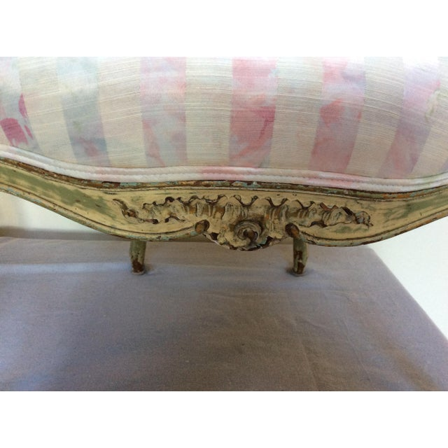 French Vintage French Arm Chairs - A Pair For Sale - Image 3 of 8