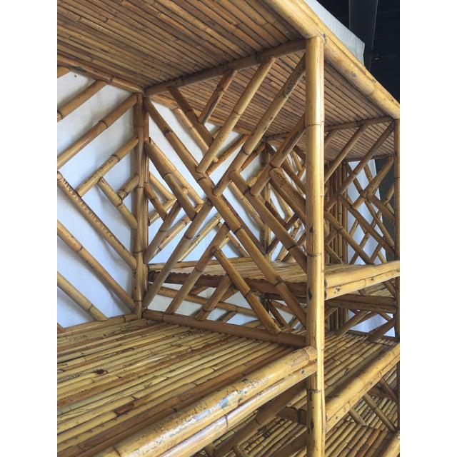 Vintage Split Bamboo Display Cabinet - Image 10 of 11