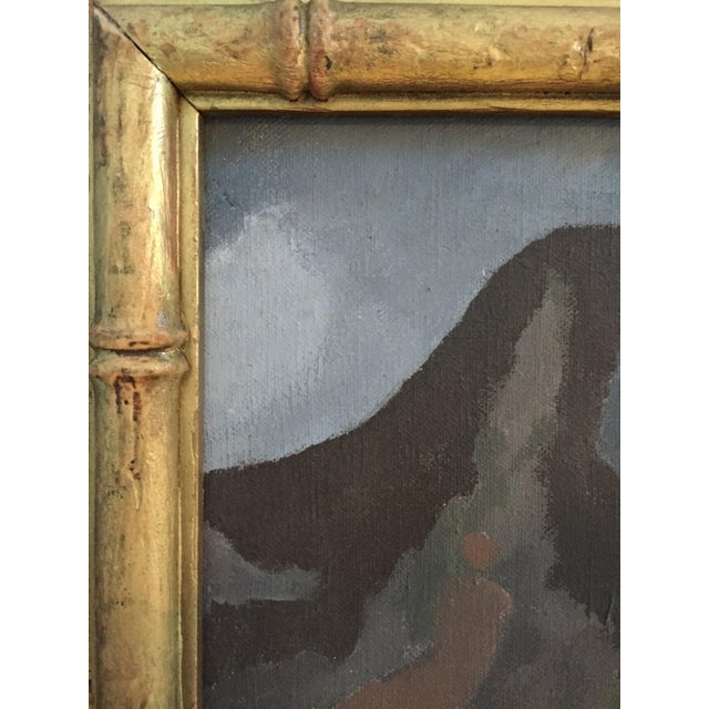 Mid-Century Camel Oil Painting - Image 7 of 7