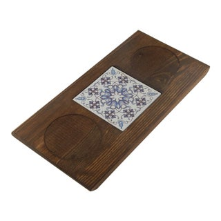 Turkish Ceramic Tile Coffee Table With Pine Tree For Sale
