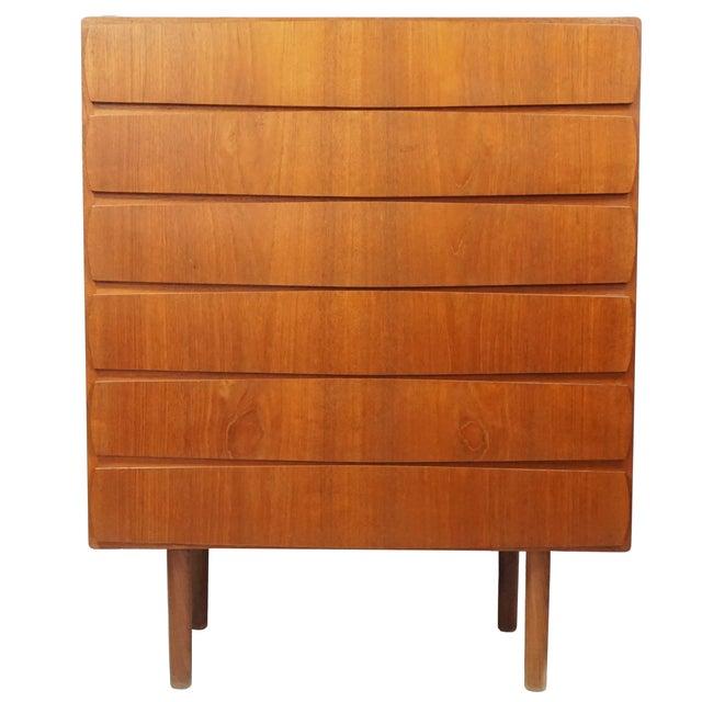 1950s Vintage Danish Teak Tallboy Dresser - Image 1 of 8