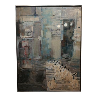 Carlson -Mid century modern Abstract -Oil Painting