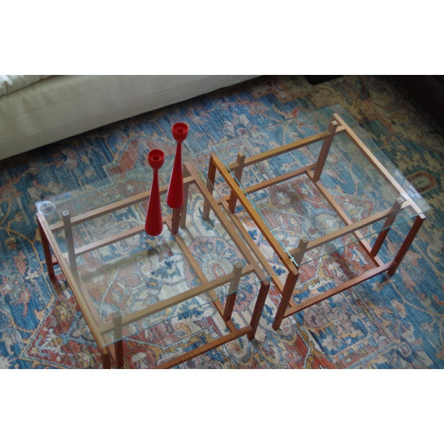 Danish Henning Nørgaard for Komfort Teak and Glass Side Tables - a Pair For Sale In Washington DC - Image 6 of 7