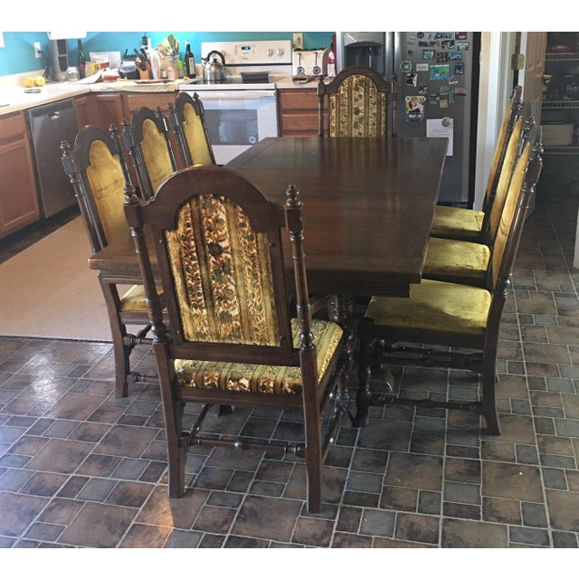 Jacobean Vintage (1970-71) Ethan Allen Royal Charter Jacobean Oak Dining Room Set For Sale - Image 3 of 10